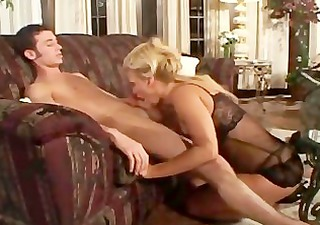 young boy with mature cougar