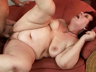 chubby grandma enjoying hard fucking