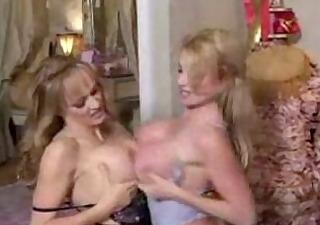 5 breasty golden-haired lesbo moms