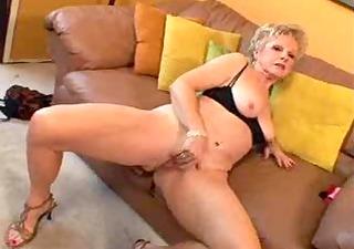 granny with big love button