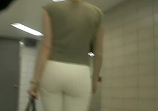 bootyful in white pants