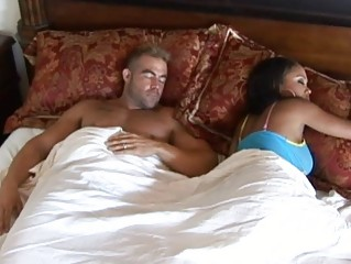 Ebony wife with big tits cheating husband and