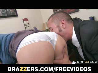 Busty blonde boss begs her employee to fuck her