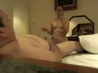 Latina slut wife fucking his boss.