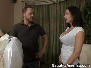 lascivious latina mom copulates a juvenile man