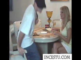 Son fucks his mom after class at incestu.com