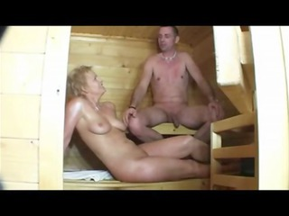 Sauna sex with horny mature women (german)