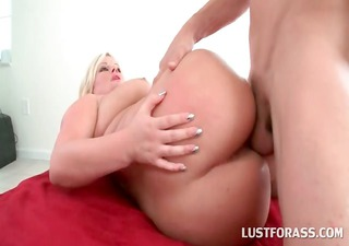 chubby a-hole blond cum-hole and mouth fucked on