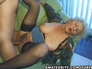 old non-professional mature wife sucks and bonks