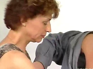 Stiff cock for mature German lady
