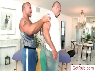 ripped aged dude receives massaged part6