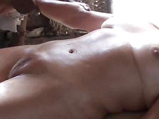 aged massage on flawless camel toe twat -