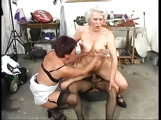 hirsute old grannys have joy with a schlong