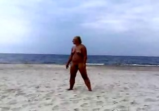 nakedpussy at the beach