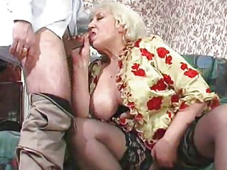 plump mature maid receives screwed