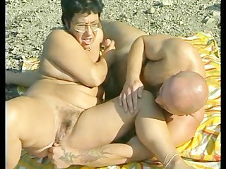 granny acquires banged at the beach