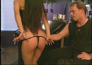 boy smacks her on her enjoyable ass