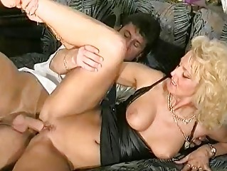 sexy golden-haired german mother