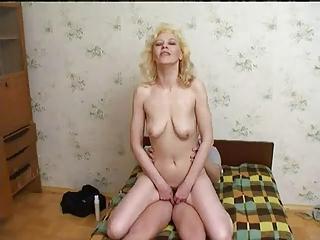 russian mum enjoys youthful chaps cum !