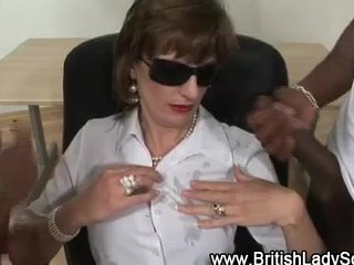 interracial older lady sonia acquires cumshots
