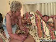 jock hungry granny fucks her son in law