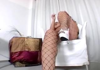 big butt brunette hair teasing in fencenet