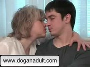 golden-haired mom and not her son