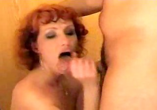 redhead mom plays with her sons friend-real