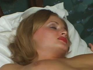 sexy golden-haired russian wife is cheating and