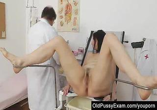 gray oma mommy old bushy pussy inspection