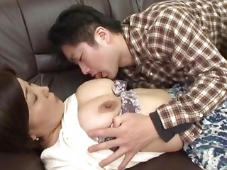 drunk japanese mother receives abase by her lad