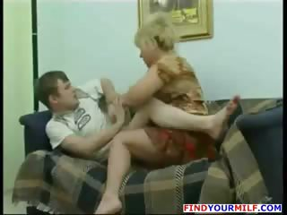 Cougar mom want to fuck son