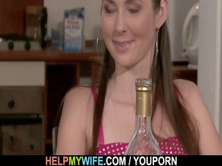 sexy wife cucks hubby with pizza guy
