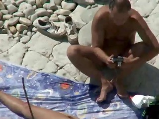 mommy and dad fuck on a public beach