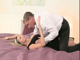 blonde mature in hose fucking