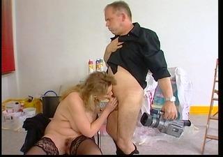 breasty german woman films a sex scene