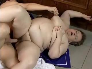 obese granny fucked in a bar